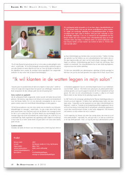 Beautysalon 2015 artikel Het Beauty Atelier